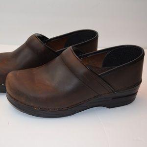 Dansko Shoes - Dansko Professional Weathered Brown Clogs